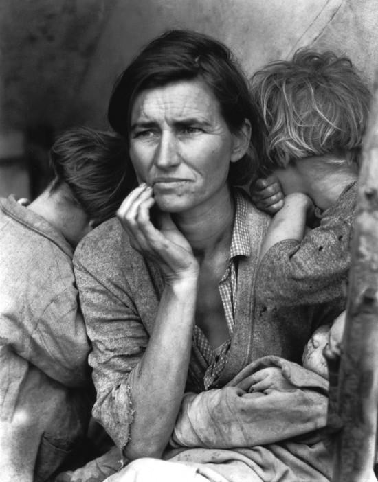 Migrant Mother. Recolectores de guisantes en la indigencia, Nipomo, California, 1936