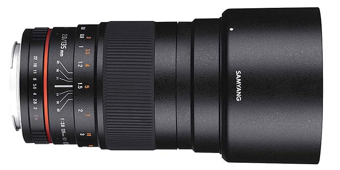 Samyang lanza un 135 mm f/2 con 10 monturas diferentes