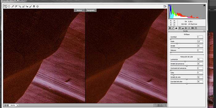 Tutorial: disminución selectiva de ruido con filtro Camera Raw