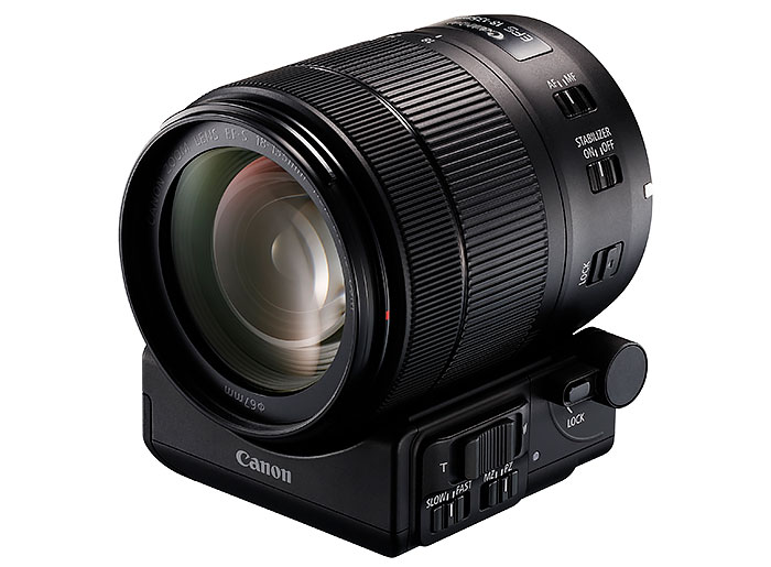 EF-S-18-135-mm-f3,5-5,6-IS-USM-y-Adaptador-Zoom-Motorizado-PZ-E1
