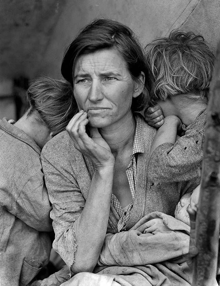 FSA-Dorothea-Lange-MigrantMother-1936-enfocada