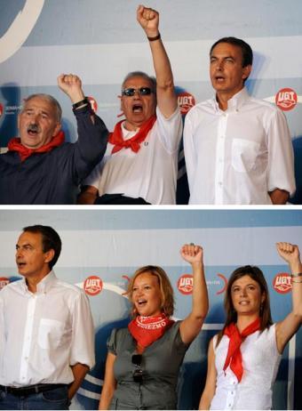 Imágenes servidas por Reuters. ¿Cortar a dos participantes no manipula la realidad?