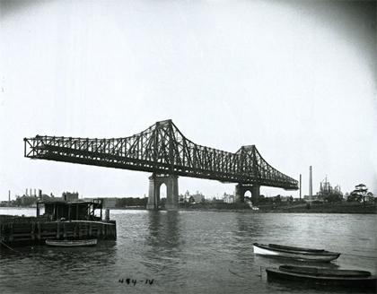 El puente de Queensboro, 1907.