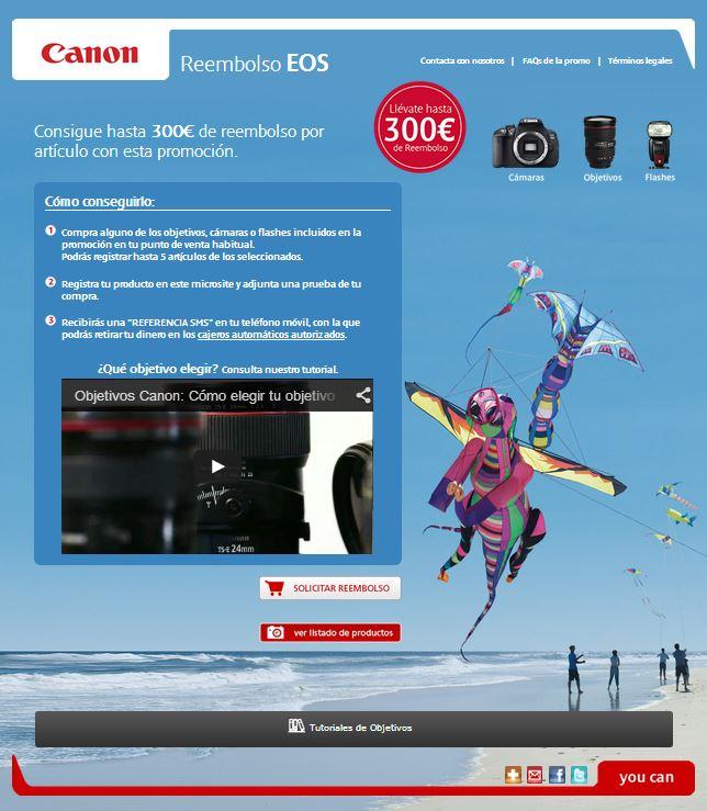 Canon reembolsa hasta 300 euros por compras de material