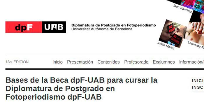 Beca master de fotoperiodismo UAB