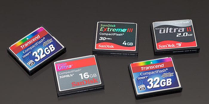 Todo sobre las tarjetas de memoria SD y CF para fotógrafos
