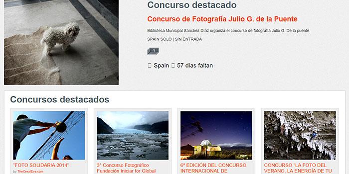 Dos páginas especializadas con toda la información sobre concursos de fotografía