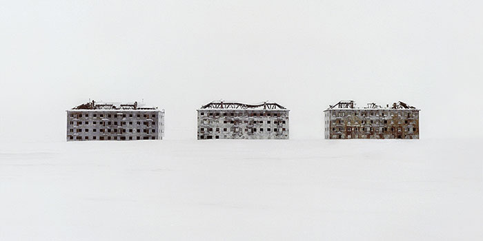 danila-tkachenko-restricted-areas-(fragment) Former residential buildings in a deserted polar scientific town specialised on biological research.