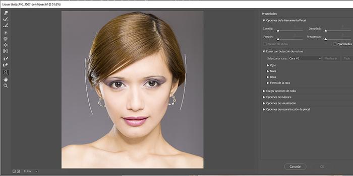 Tutorial: cómo usar el Filtro licuar con detección de caras